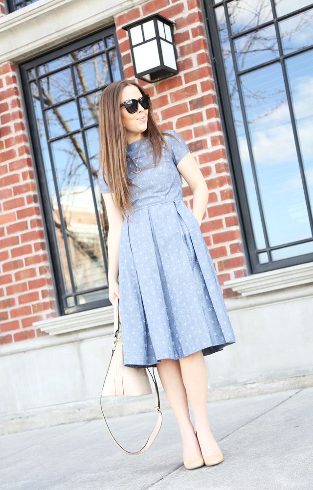 chambray anchor dress