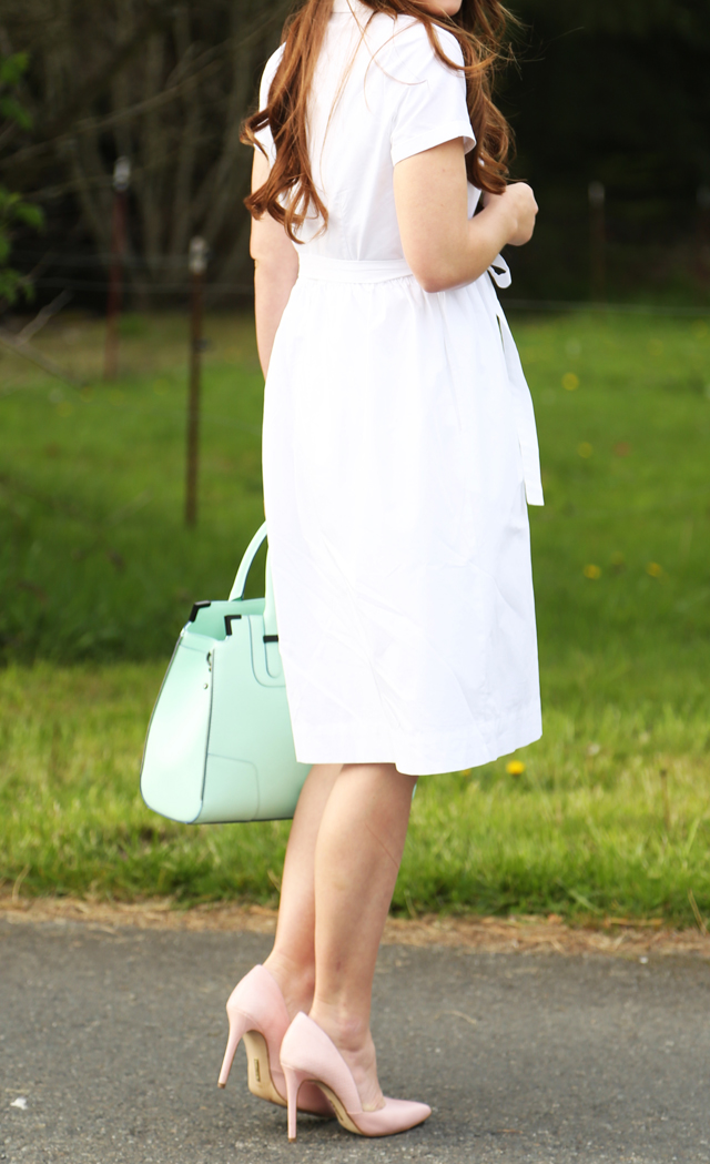 mint green dress pink shoes images