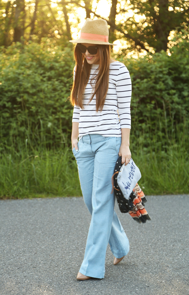 spring outfit linen trousers