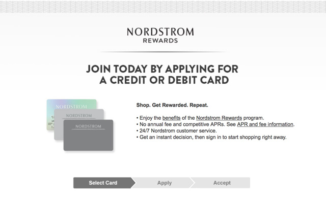 the nordstrom signature visa card or a nordstrom debit card