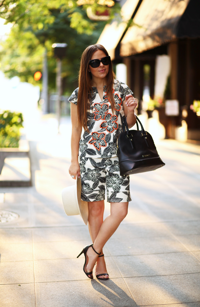 mix and match tropical outfit