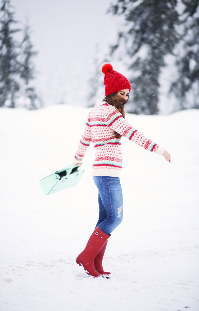 twirling in the snow