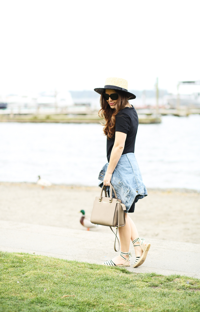 how to style a black t-shirt dress