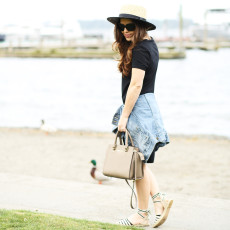 to a tee: an easy way to style a t-shirt dress.