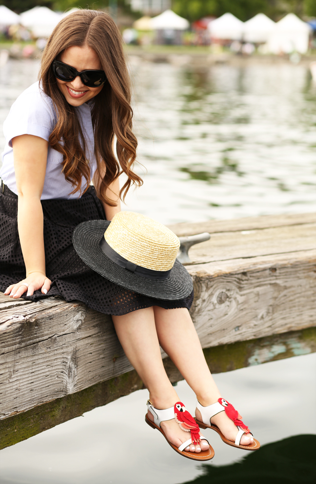 kate spade summer sandals on the dock