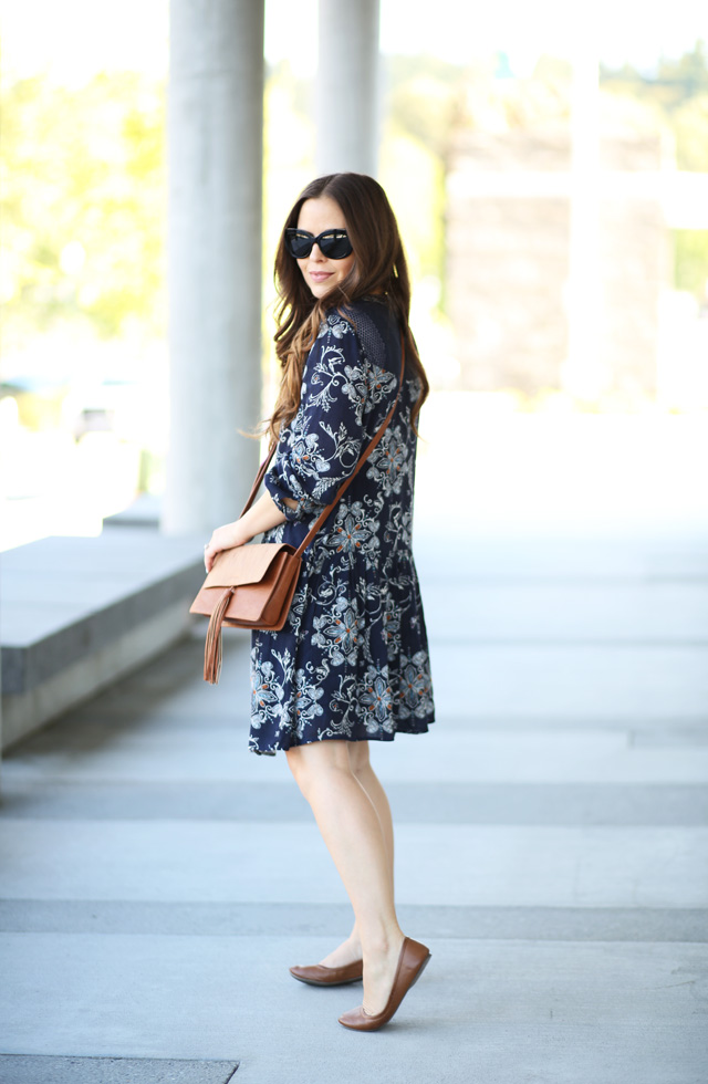casual dress with flats 2