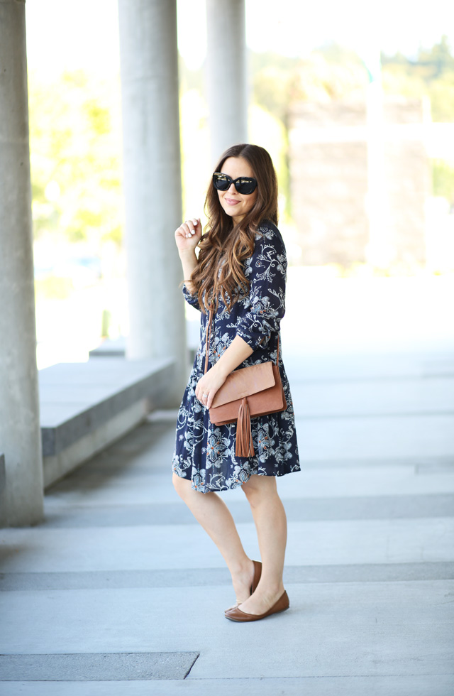 casual dress with flats