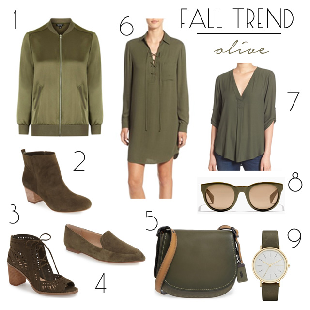 fall trend olive