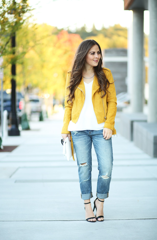 mustard-moto-jacket-ripped-jeans