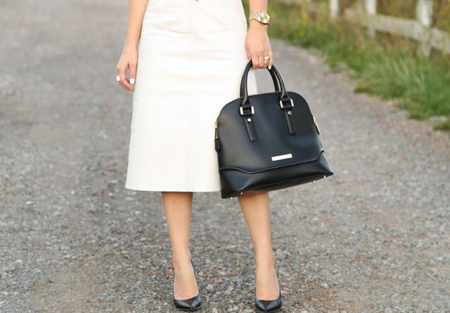 white leather dress cori