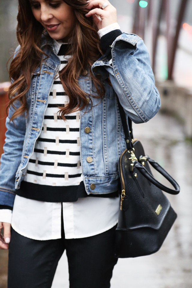 black and white layered look