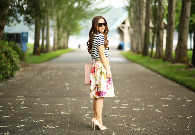 dreamy floral skirt