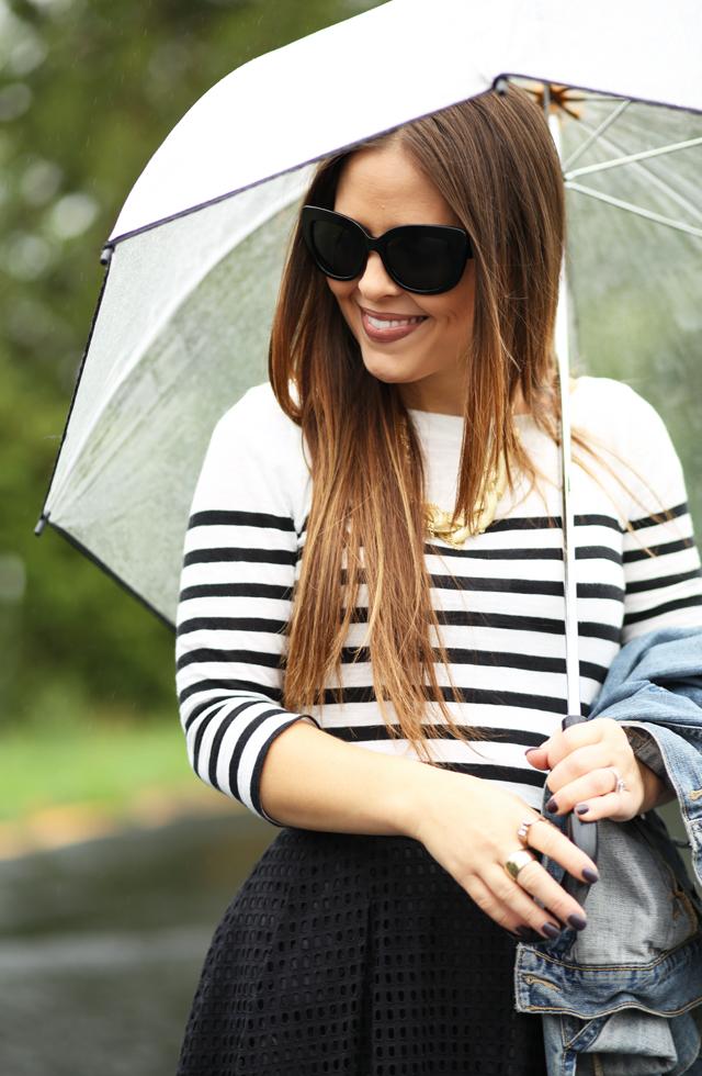 breton stripes on a rainy day