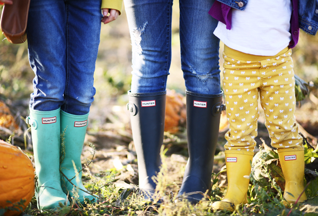 mom kids and toddler hunter boots