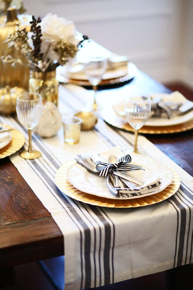 All Set Black And Gold Thanksgiving Table Dress Cori Lynn