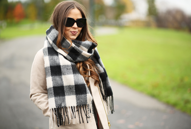 black buffalo check scarf from sixth and alder