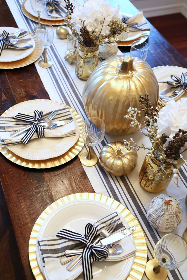 All Set Black And Gold Thanksgiving Table Dress Cori Lynn