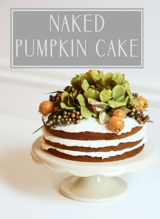Naked Pumpkin Cake with Cinnamon Buttercream | FN Dish