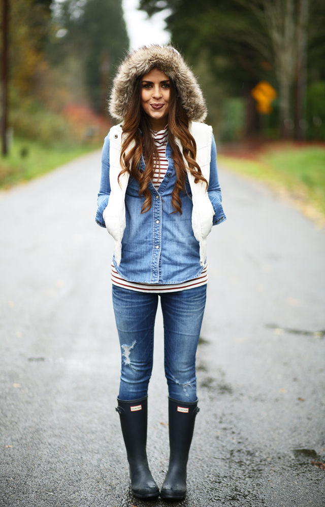 perfectly layered puffer vest for fall