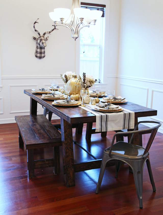 Thanksgiving On A Farmhouse Table Cafe Chairs Dress Cori Lynn