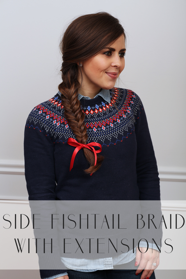 How To Side Fishtail Braid With Hair Extensions Dress Cori Lynn