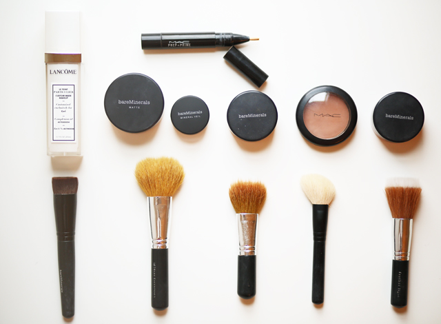 face products and brushes