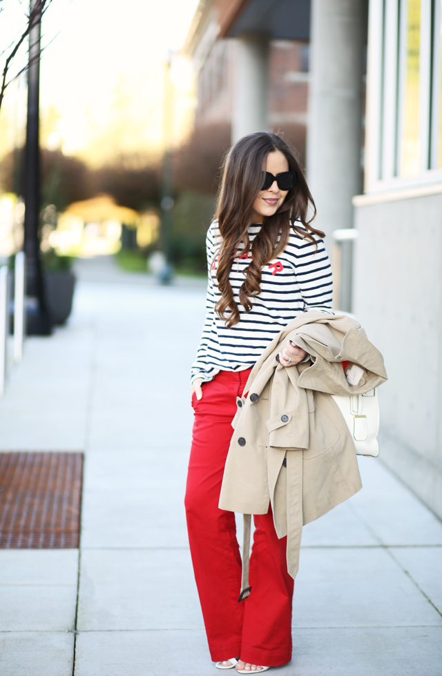 clasic red and blue nautical outfit