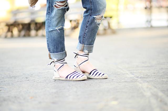 striped espidrilles