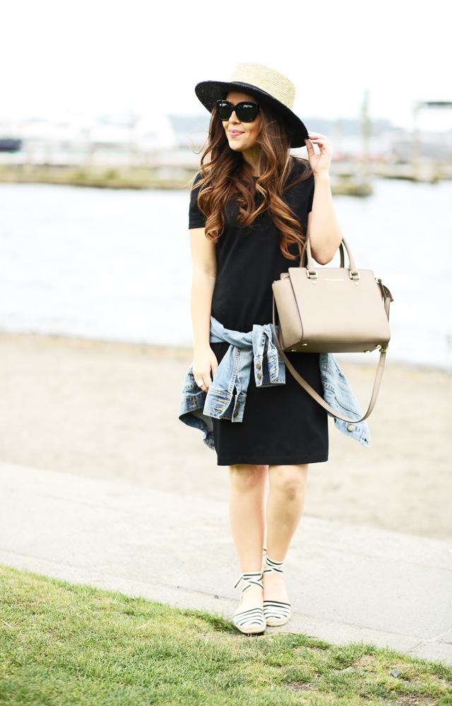 84ca2fce1b79 to a tee  an easy way to style a t-shirt dress. - dress cori lynn