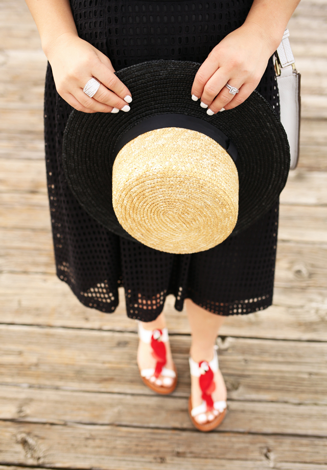f5704cd4b4b23 ... kate spade charlie sandals boater hat ksny shoes casual summer outfit  ...
