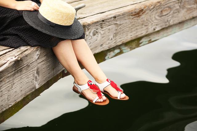 5b9968c7233e5 Summer sandals with Kate Spade.  plus a giveaway  - dress cori lynn