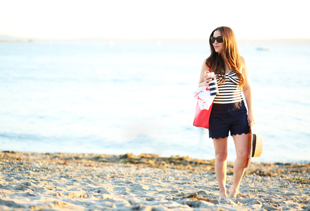 kate spade swimsuit with scalloped post