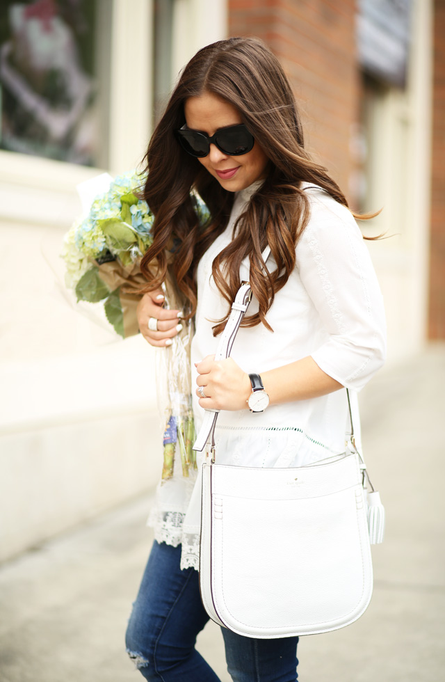 lace tunic with jeans