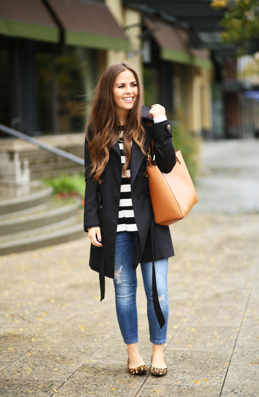 The Perfect Black Trench Coat - Dress Cori Lynn-2840