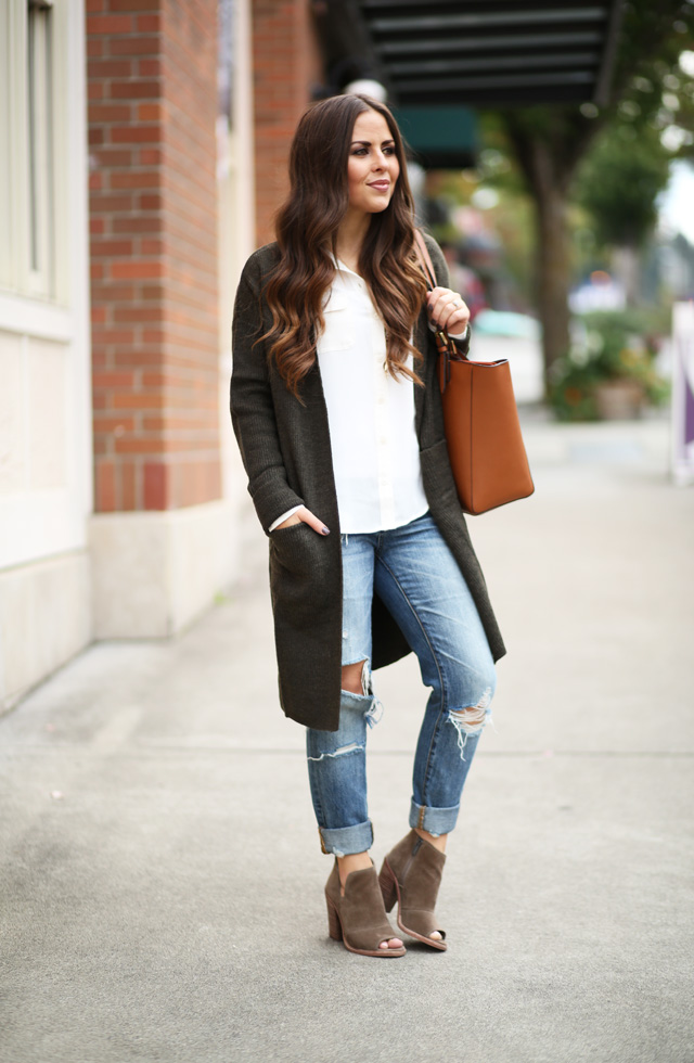ripped,jeans,long,sweater,open,toe,booties , dress cori lynn