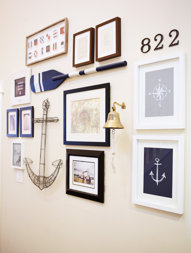 howto-create-a-nautical-gallery-wall