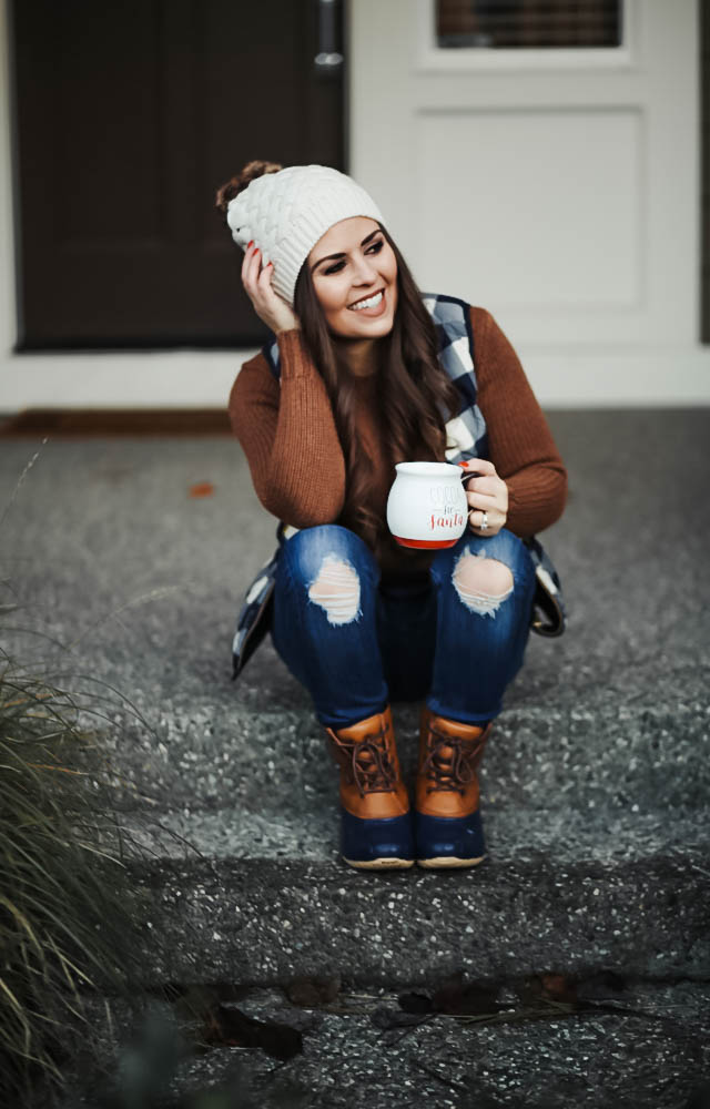 pom-beanie-and-waterfroof-boots-1