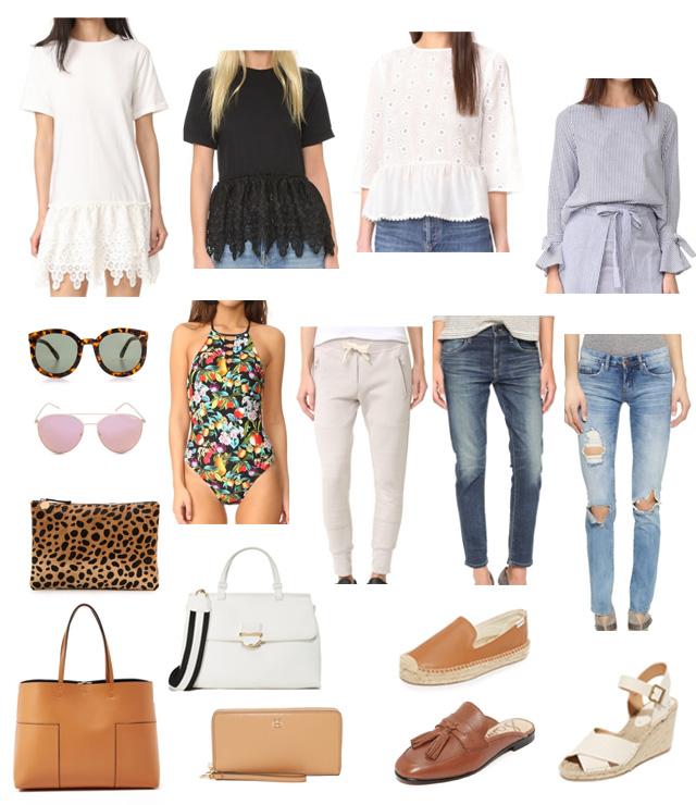 0756c42eab white dress. black lace tee. white eyelet top. blue bell sleeve top. distressed  jeans. boyfriend jeans. sweatpants. swimsuit. karen walker sunglasses. quay  ...