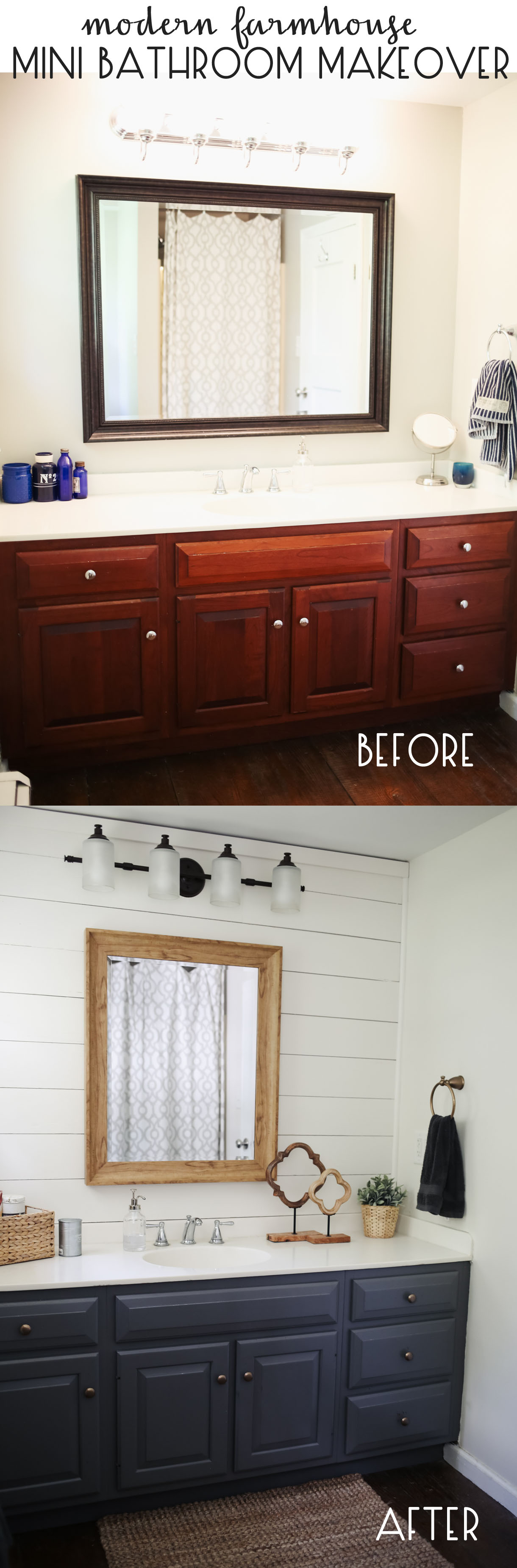 Farmhouse Style Mini Bathroom Makeover Dress Cori Lynn - Mini bathroom makeover