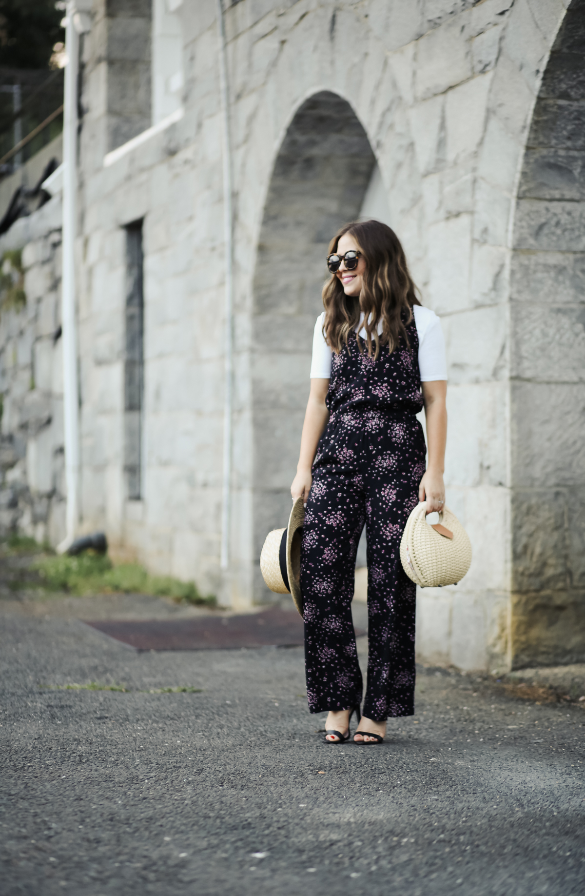 47d66182427 floral romper. tee. heels. hat. sunglasses. bag. necklace. lipstick.  (color  snob) 3 things today  1-Can I just tell you how thrilled I was when  I stumbled ...