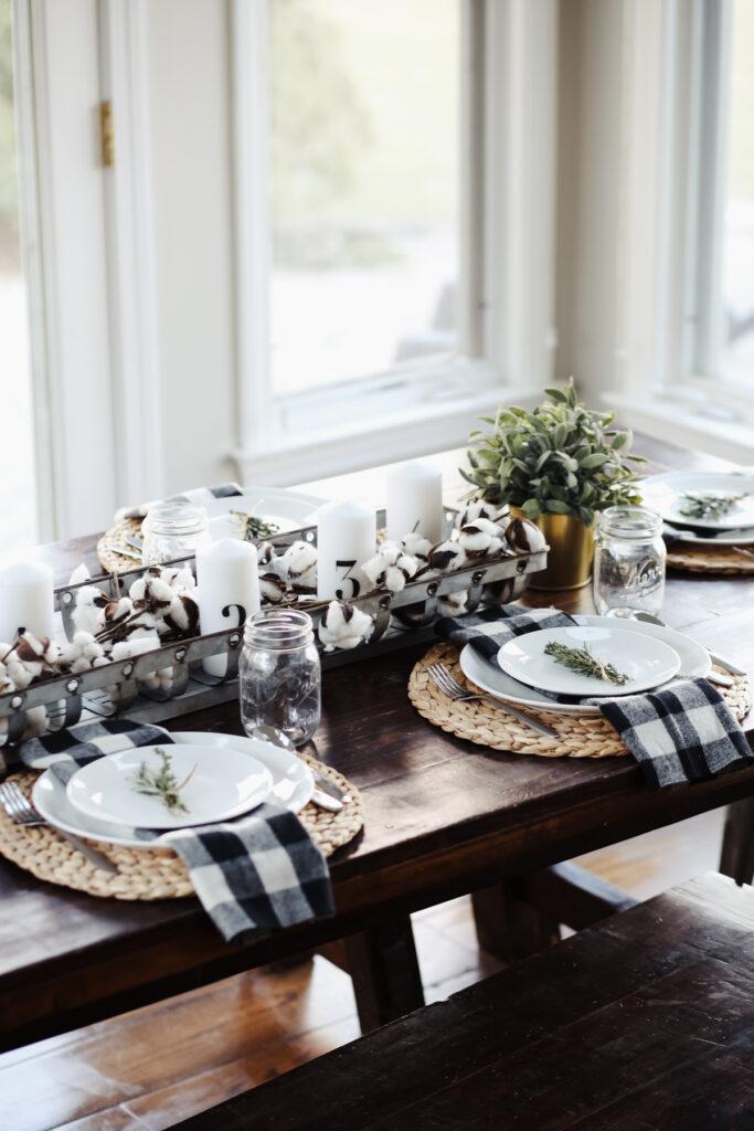 Modern Farmhouse Thanksgiving Tablescape Dress Cori Lynn