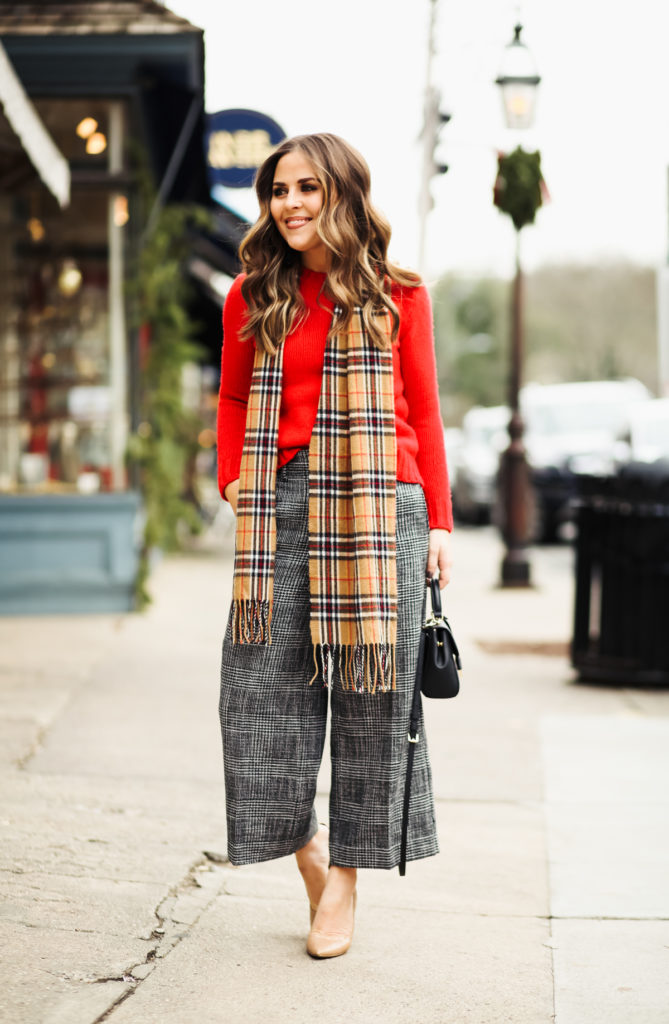 One of my favorite things about this season is getting dressed up in a Christmas  outfit for the holiday. I usually go with a dress, but this year, ... - Christmas Outfit Inspiration: Mixing Plaids. - Dress Cori Lynn