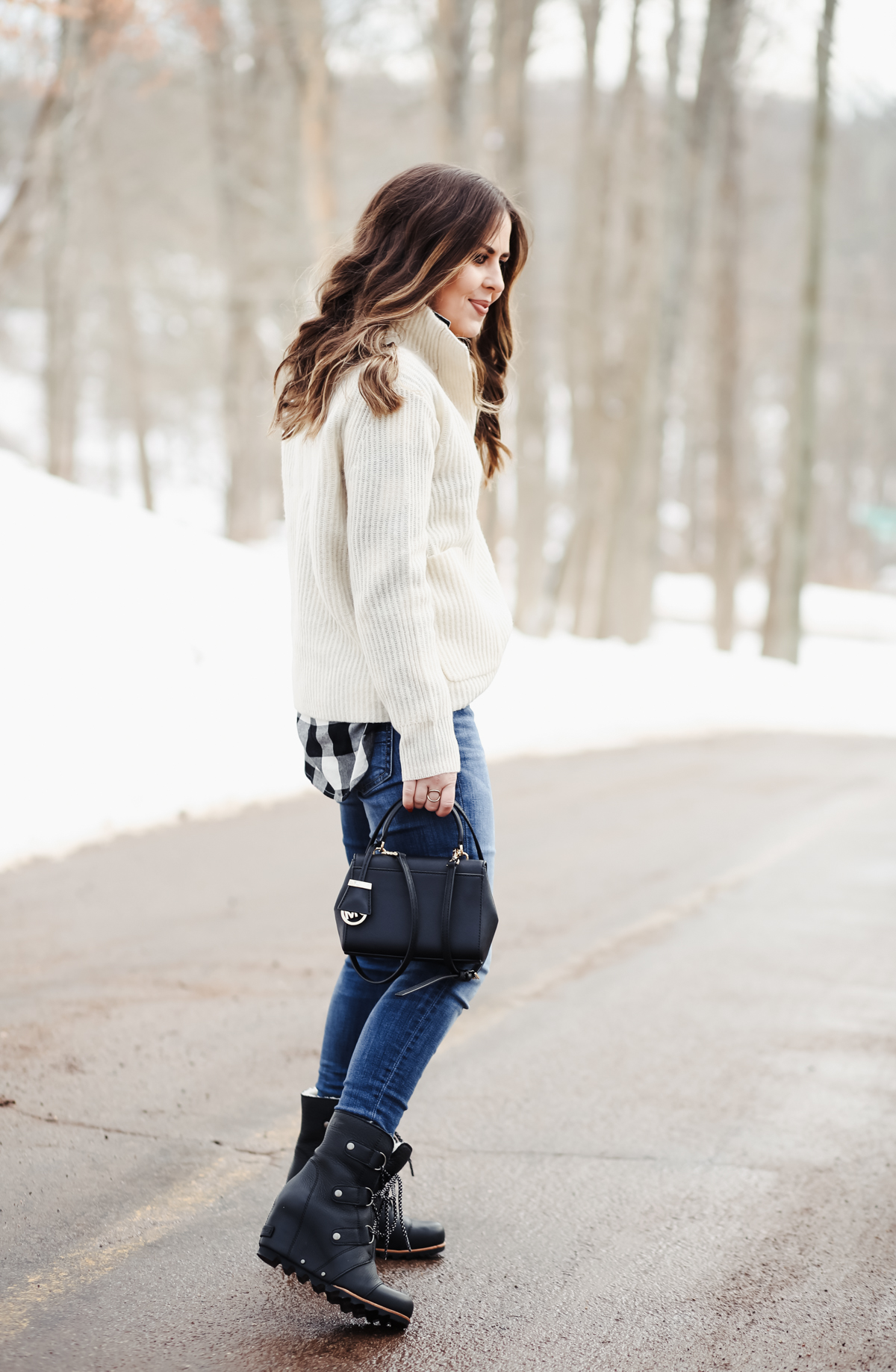dress with wedge booties