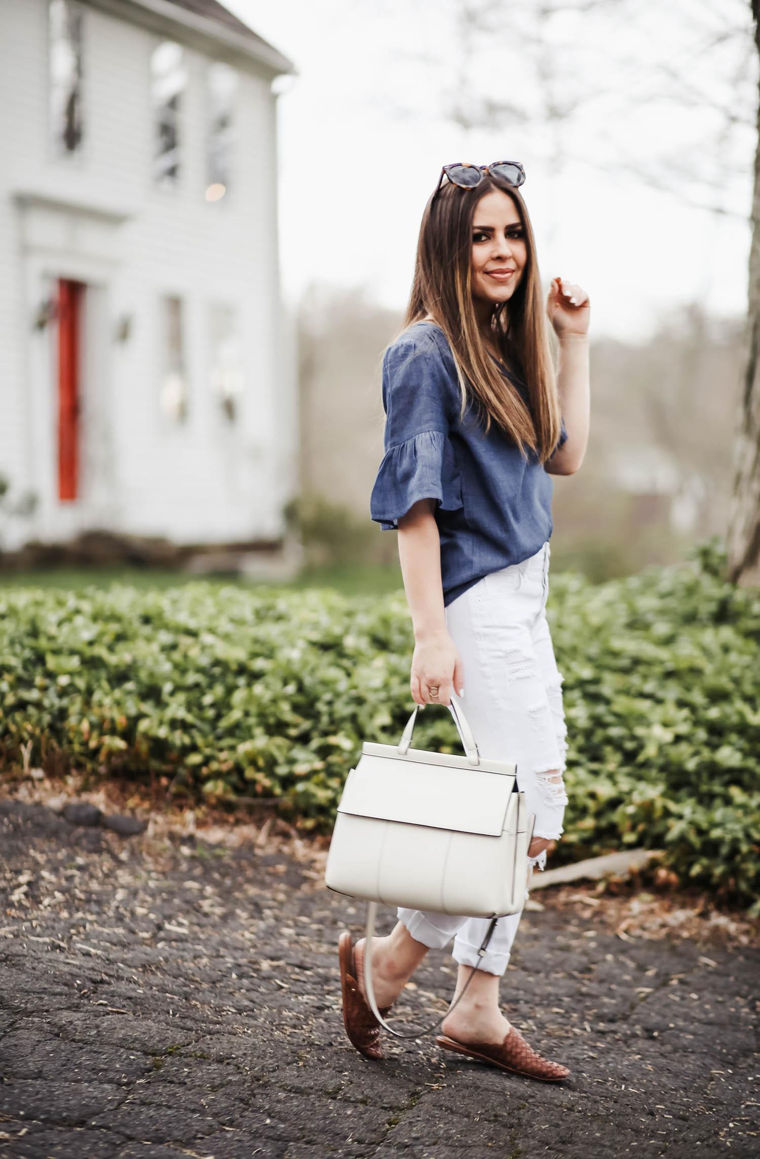3ea87e6193 spring favorites  a great pair of white girlfriend jeans. - dress cori lynn