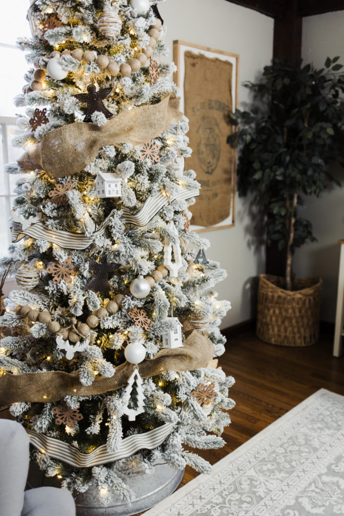 Flocked French Farmhouse Inspired Christmas Tree 2 Dress Cori Lynn