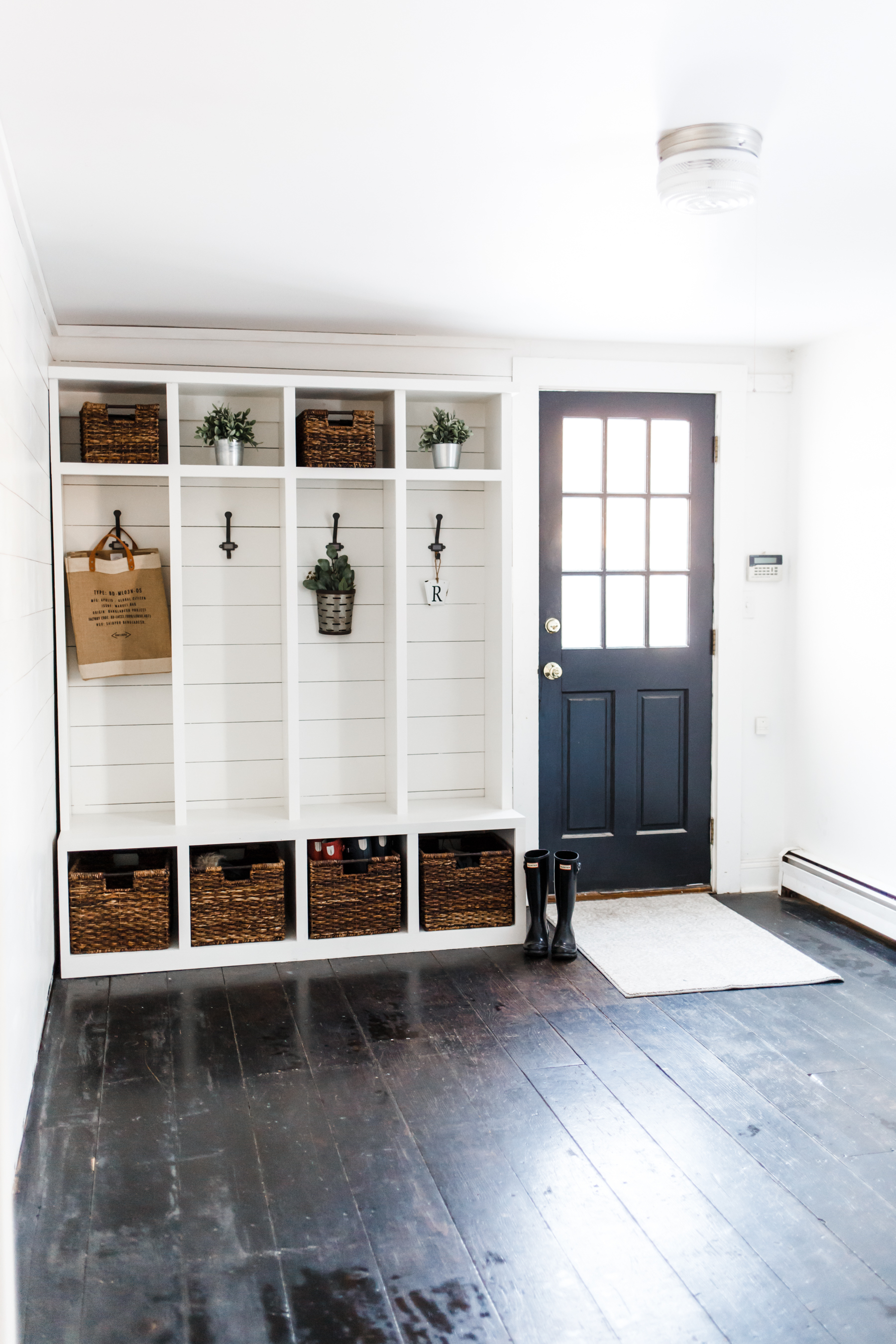 Modern Farmhouse Mudroom Makeover Phase 1 Dress Cori Lynn