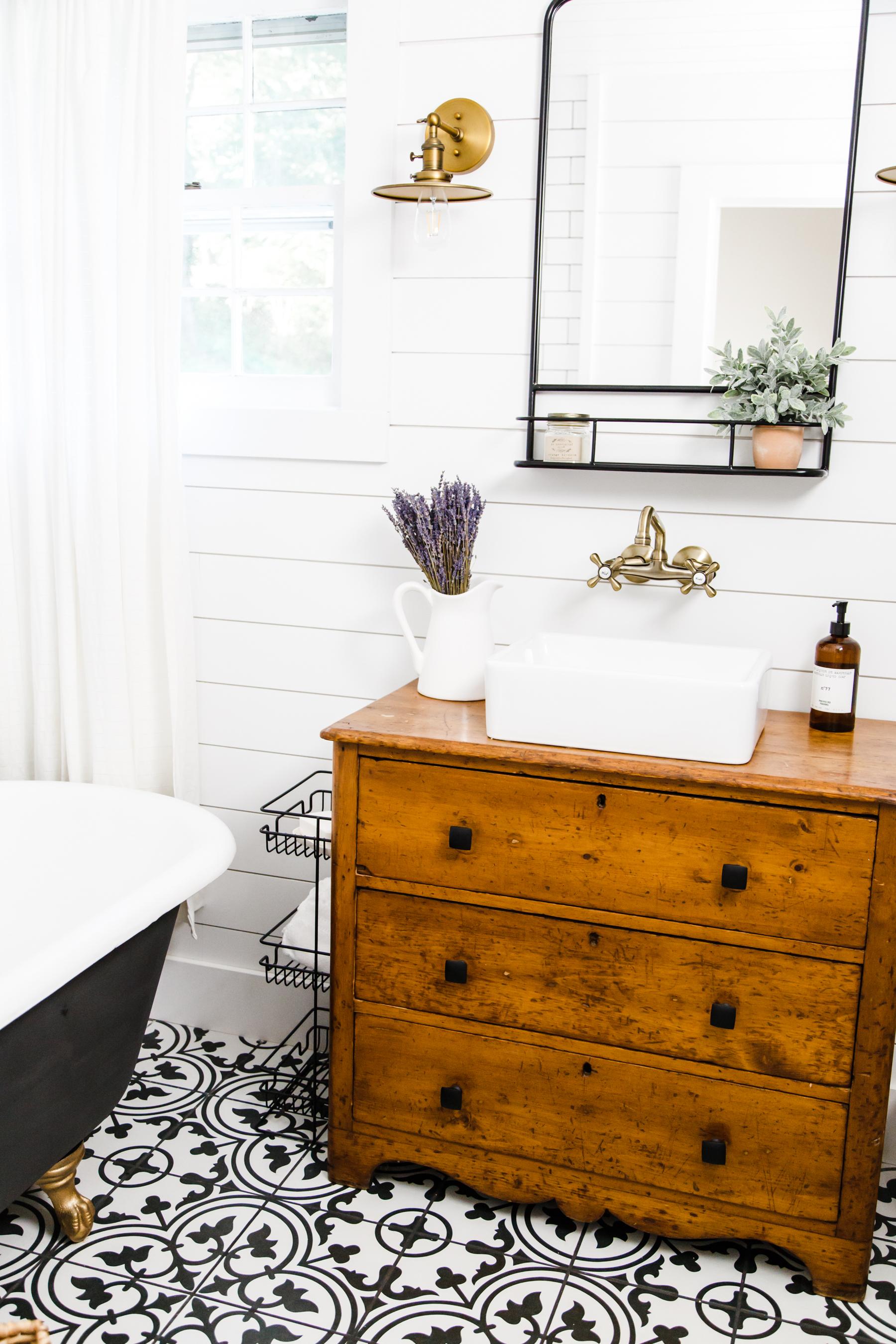 Our Modern Farmhouse Bathroom Remodel Dress Cori Lynn